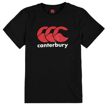 Canterbury CCC Logo Training T Shirt Junior Boys - Black - 0010