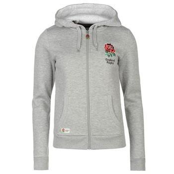 RFU England Zip Through Hoody Ladies Grey Marl - 0020