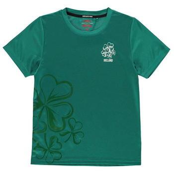 Team Rugby Poly T Shirt Junior Boys - Ireland - 0005
