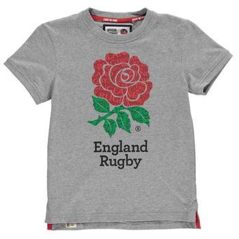 RFU England Graphic Tee Junior Boys- Grey Marl - 0006