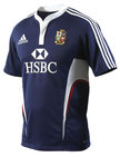 British and Irish Lions 2009 Players Rugby Training Shirt Navy